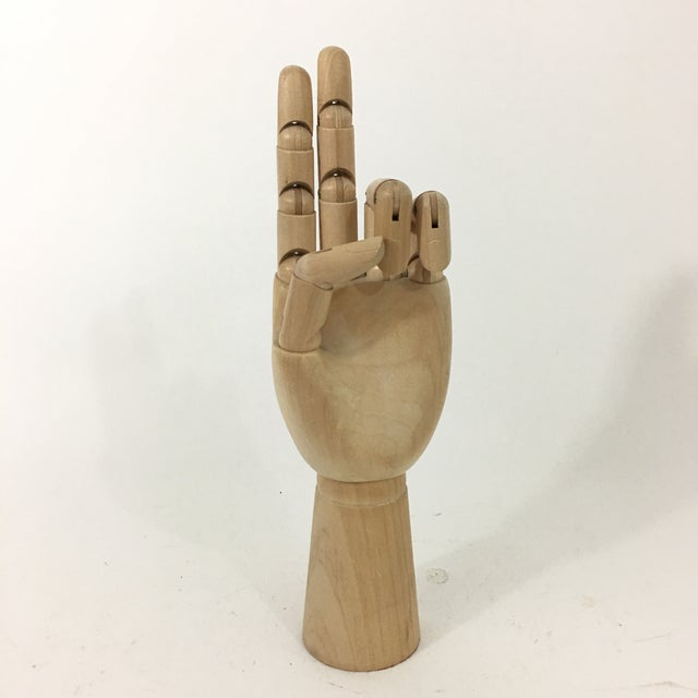 Vintage Wood Hand Figure Model For Sale In New York - Image 6 of 13