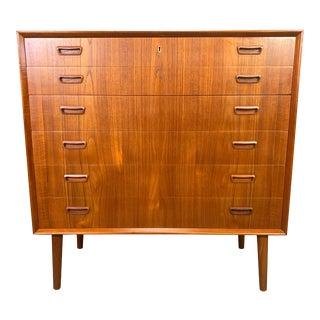 Vintage Danish Mid Century Modern Teak Highboy Dresser by Borge Seindal For Sale
