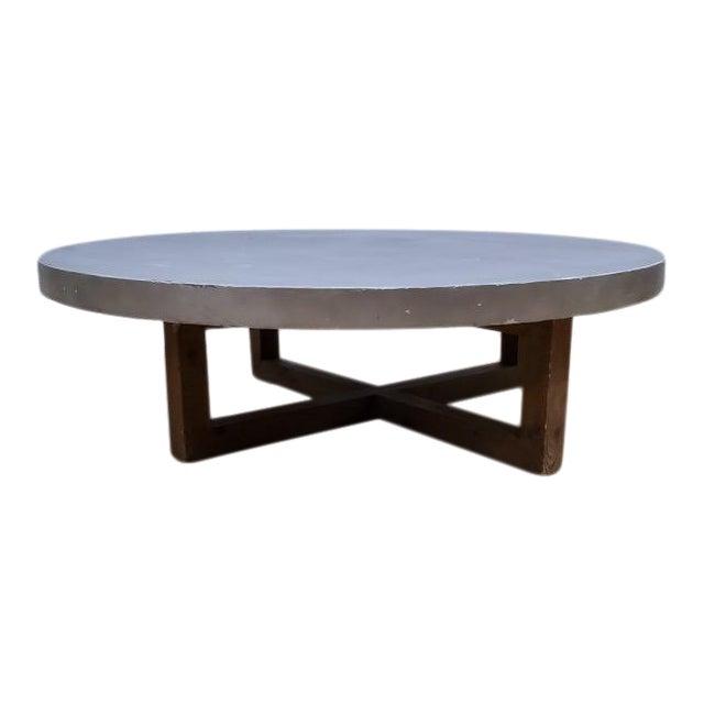 Restoration Hardware Heston Round Coffee Table For Sale