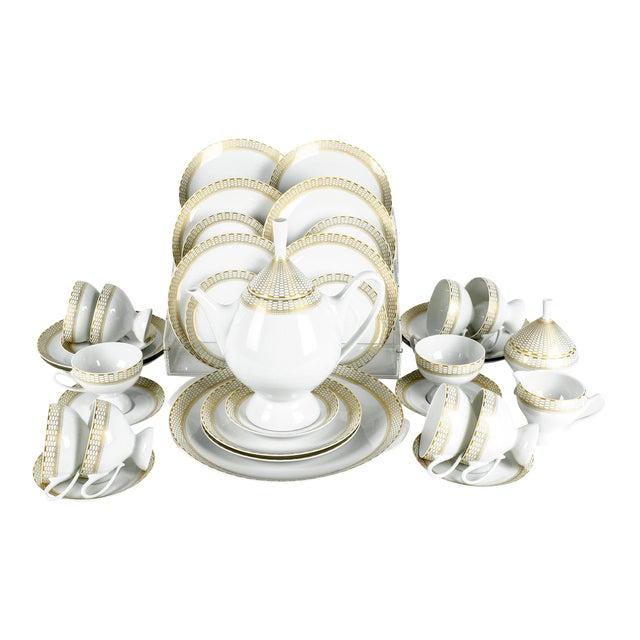 Art Deco German Porcelain Luncheon Tea & Coffee Set For Sale