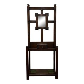 Early 20th Century English Oak Arts & Crafts Hall Stand For Sale