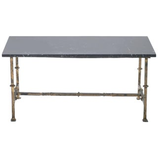 Gilt Wrought Iron Art Deco Coffee Table, 1940s For Sale