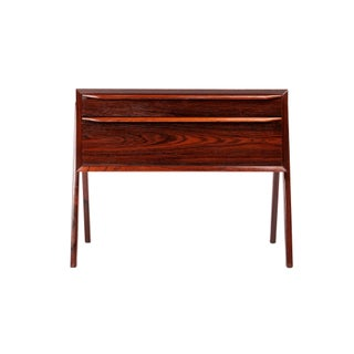 1960s Danish Modern Rosewood Entry Chest For Sale