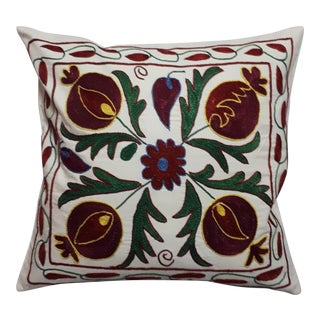 Red Pomegranate Design Crochet Pillow Cover For Sale