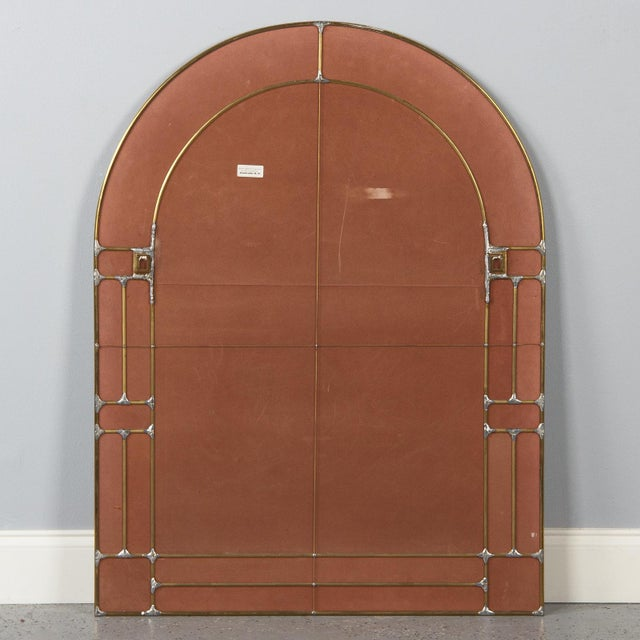 1970s Italian Beveled Glass Mirror With Brass Frame For Sale - Image 9 of 13
