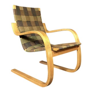 Early Alvar Aalto Armchair, Model 406, Artek, Finland, 1950s For Sale