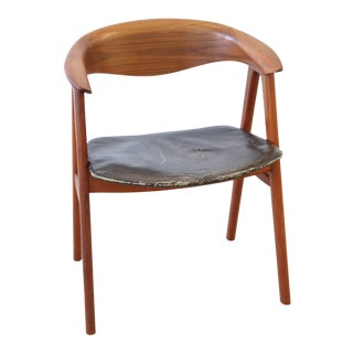 Erik Kirkegaard for Illums Bolighus Danish Teak Desk Chair For Sale