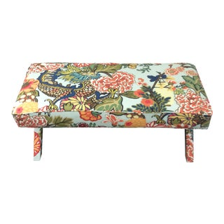 Schumacher Chiang Mai Dragon Fabric X-Bench For Sale