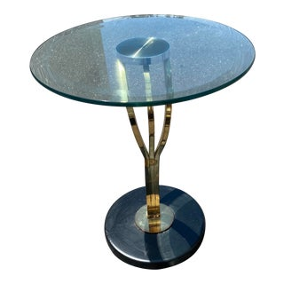 DIA Sculptural Cantilevered Glass Coffee Table For Sale