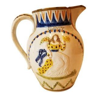 English Pearlware Pitcher For Sale