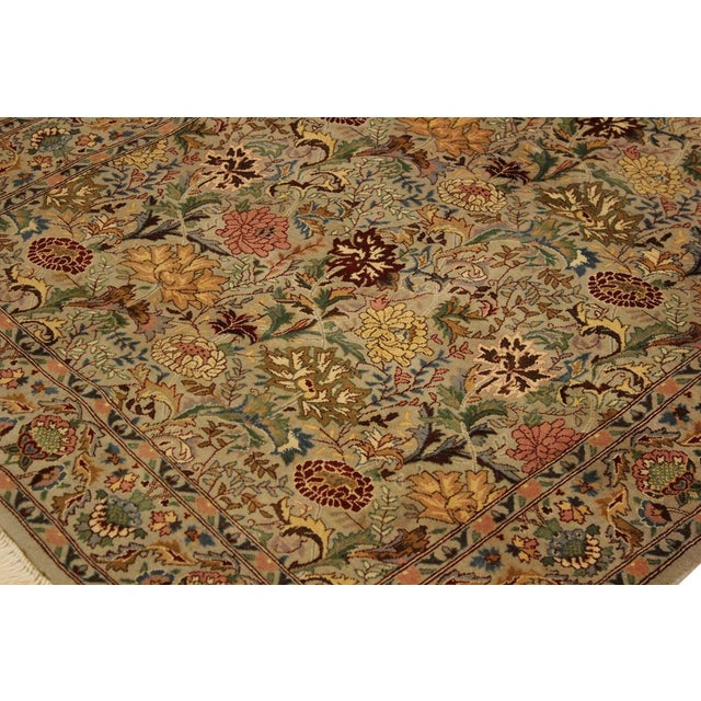 Textile Pak-Persian Jeni Lt. Gray/Gold Wool Rug - 4'1 X 6'2 For Sale - Image 7 of 8