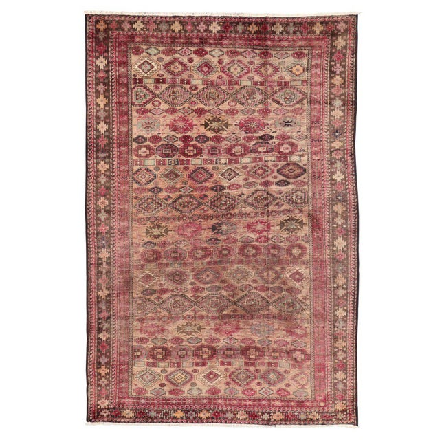 Pink Vintage Persian Baluch Rug with Modern Tribal Style For Sale - Image 5 of 9