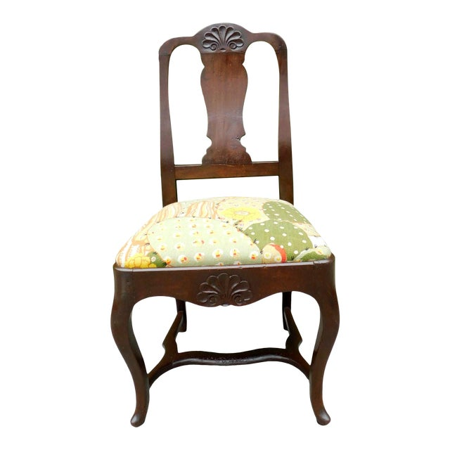 Early 1900s Botanical Cactus Vanity Chair For Sale