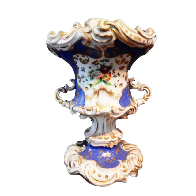 Antique 19th Vieux Paris Vase For Sale - Image 5 of 11