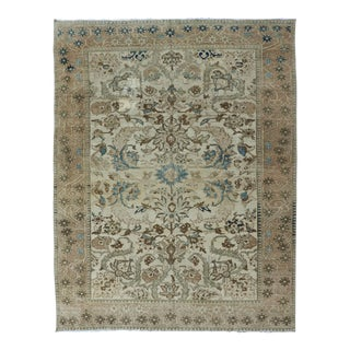 Earth Tone Colors Vintage Persian Bakhtiari Rug With All-Over Blossom Design For Sale