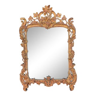 18th Century Louis XV Carved Giltwood Mirror For Sale