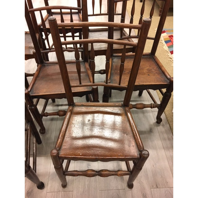 Set of 8 19th century oak side chairs