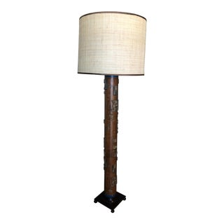 Antique French Wallpaper Roller Floor Lamp For Sale