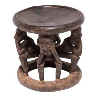 Bamileke Figurative Stool For Sale
