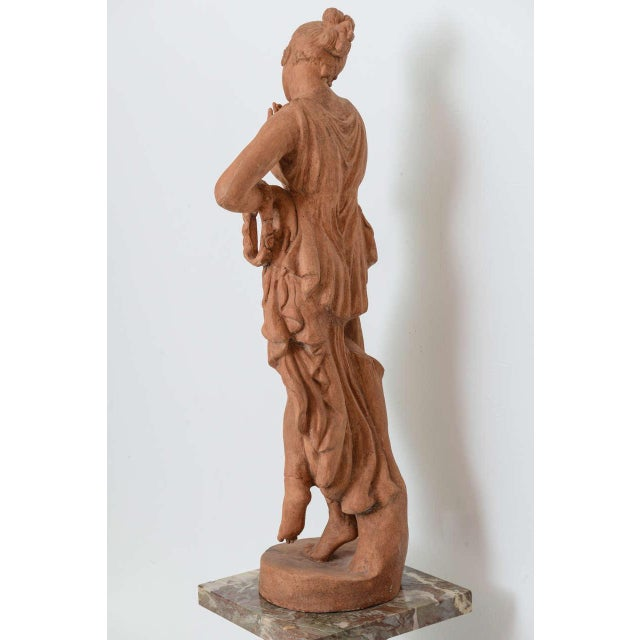 Early 19th Century Neoclassical Greco-Roman Terracotta Garden Sculpture, France, 19th Century For Sale - Image 5 of 11