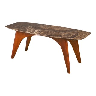 Rare Table by Paolo Buffa in Lunar Marble For Sale