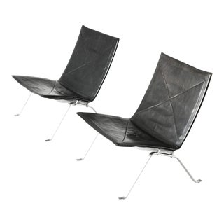 Poul Kjaerholm Pk22 Style Chairs- A Pair For Sale