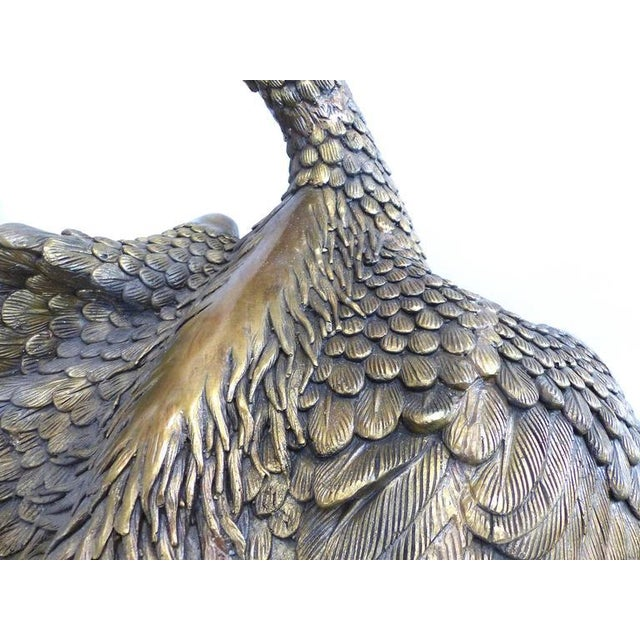 Monumental Contemporary Bronze Stork Sculpture Also Fitted as a Fountain - Image 3 of 8