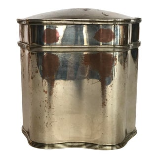 Traditional Silver Tea Container For Sale