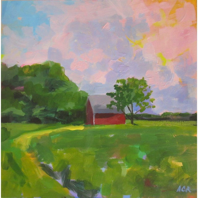 2020s Red House in Vermont by Anne Carrozza Remick For Sale - Image 5 of 6