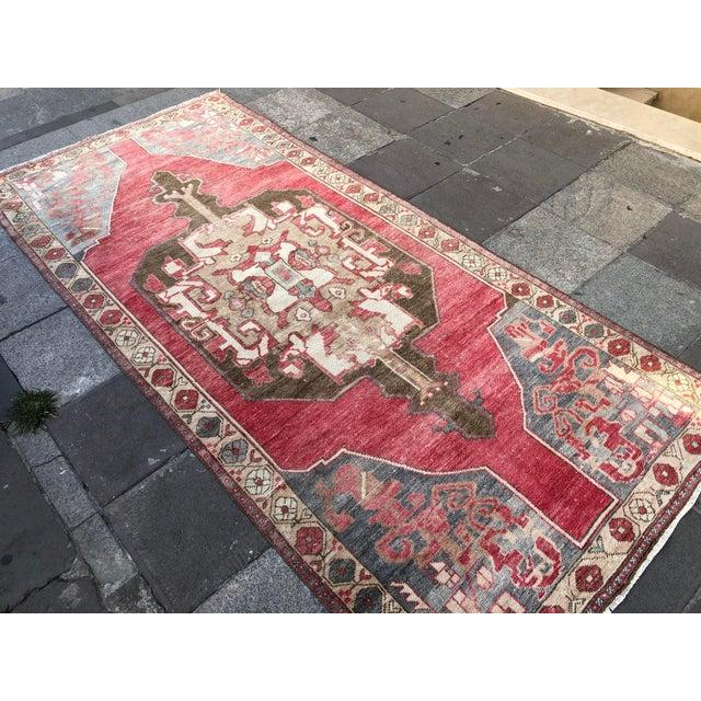 Textile Tribal Turkish Carpet For Sale - Image 7 of 11