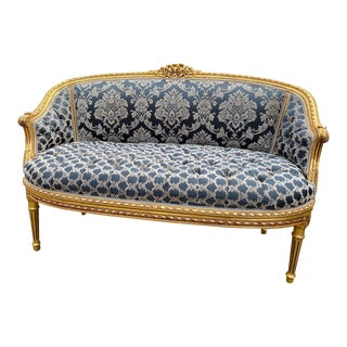 1900s Antique French Louis XVI Sofa For Sale