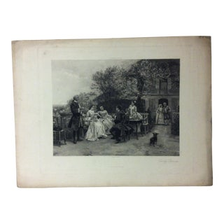 """Antique Photogravure on Paper, """"Early Spring"""" from D. Appleton & Co - Circa 1860 For Sale"""