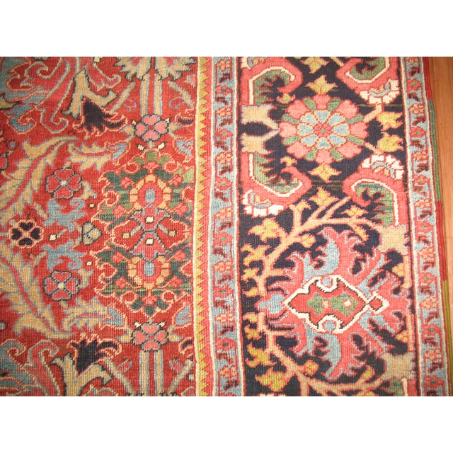 Antique Persian Heriz Rug - 8′4″ × 10′11″ - Image 3 of 11
