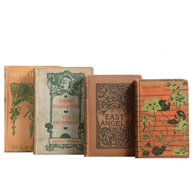 Antique Tan & Green Bookstack - Set of 6 - Image 2 of 2