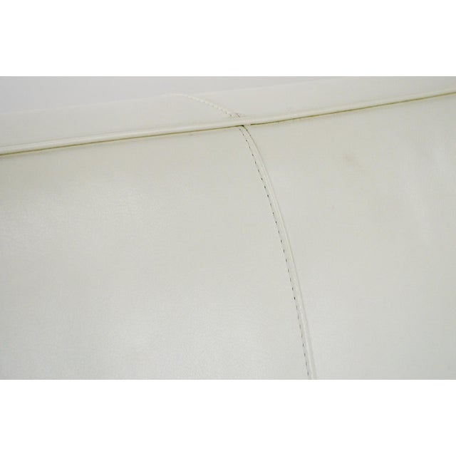 Off White Leather Two Seat Sofa by DWR - Image 8 of 9