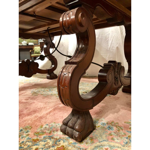 Spanish Renaissance Walnut Refectory Table For Sale - Image 6 of 10