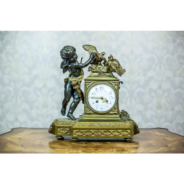 French Mantel Clock Set, Circa 19th Century For Sale - Image 6 of 13