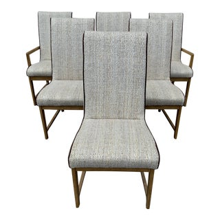 1970s Vintage Flair for Hibriten Furniture Co. Dining Chairs - Set of 6 For Sale