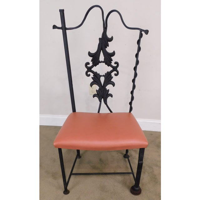j.w. Zan Hand Forged Reclaimed Iron Chair (B) For Sale - Image 4 of 12