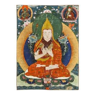 Antique Framed Tibetan Thangka For Sale