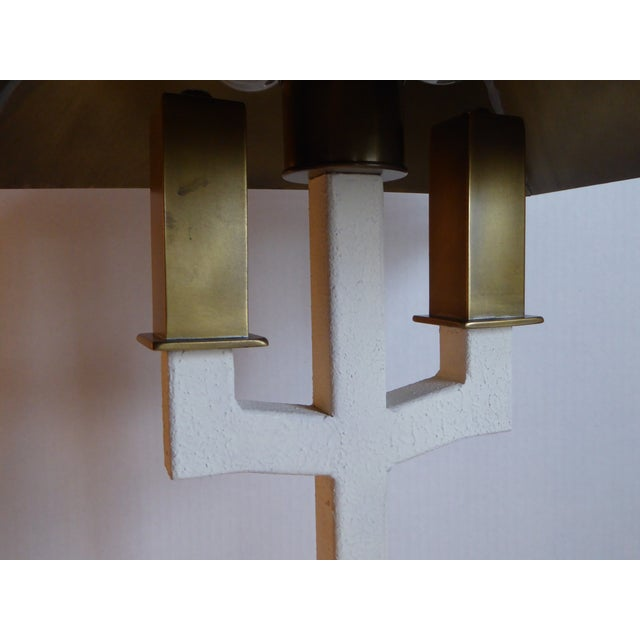 1970s Hart Associates Postmodern Bouillotte Lamp With Painted Brass Metal Shade 1970s. For Sale - Image 5 of 11