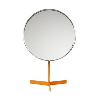 Durlston Designs Ltd Orange Lacquered Pedestal Vanity Mirror For Sale