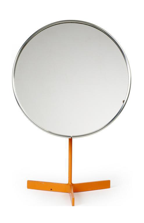 Durlston Designs Ltd Orange Lacquered Pedestal Vanity Mirror   Image 1 Of 3