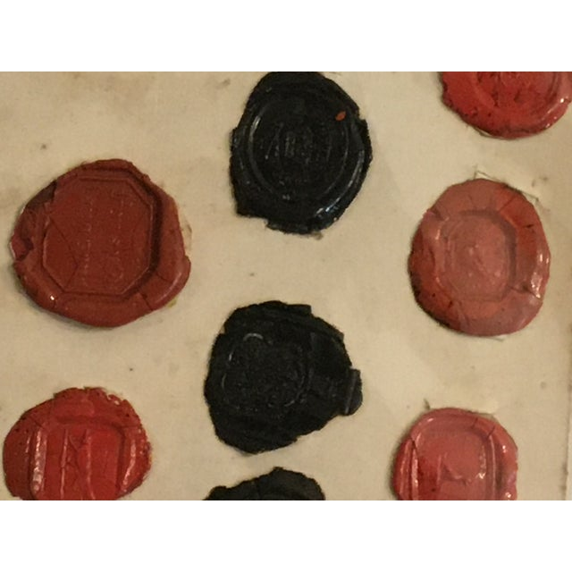 Antique English 29 Red and Black Intaglios Wax Seals For Sale - Image 9 of 12