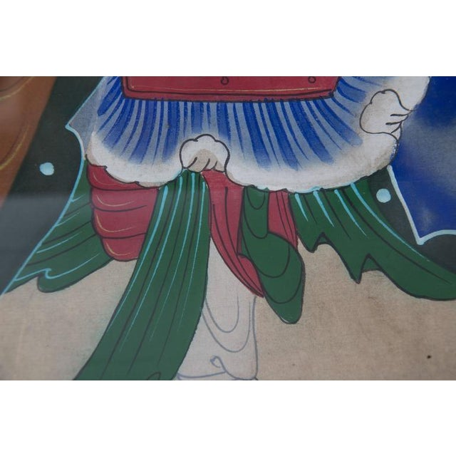 Fabric Grouping of Ancient Chinese Warriors Hand-Painted For Sale - Image 7 of 8