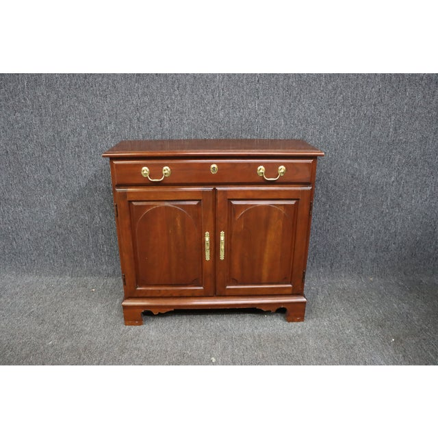Chippendale Harden Chippendale Style Cherry Console Cabinet For Sale - Image 3 of 8
