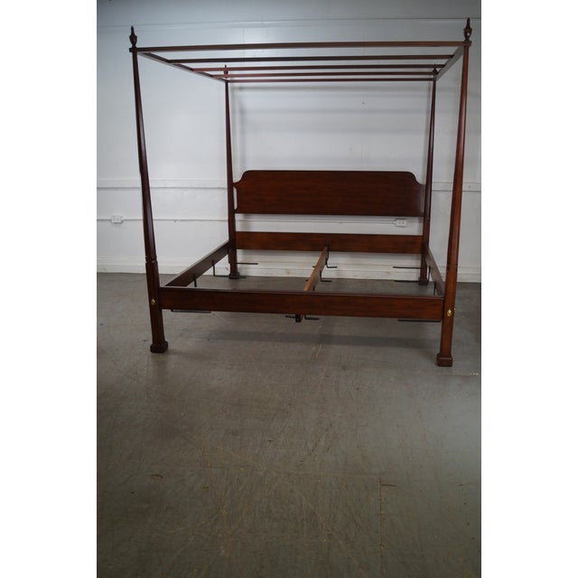 Henkel Harris Solid Cherry King Size Poster Canopy Bed - Image 9 of 10