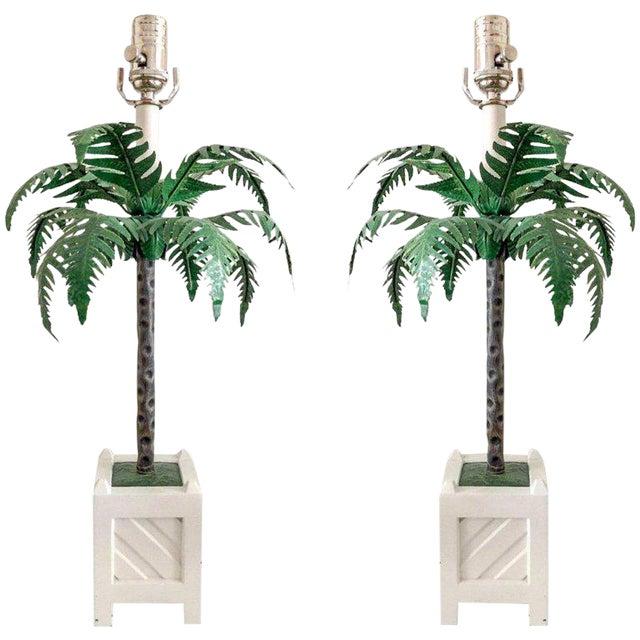 Final Markdown Tole Lamps by Maison Bagues, Pair For Sale