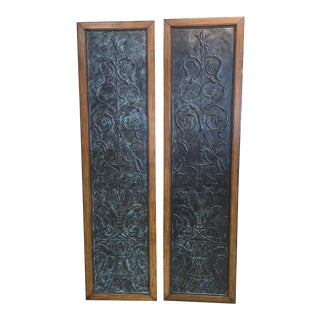 1980s Maitland Smith Wall Panels - a Pair For Sale