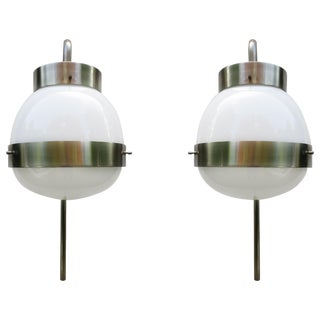 "Pair of Sergio Mazza ""Delta"" Sconces For Sale"
